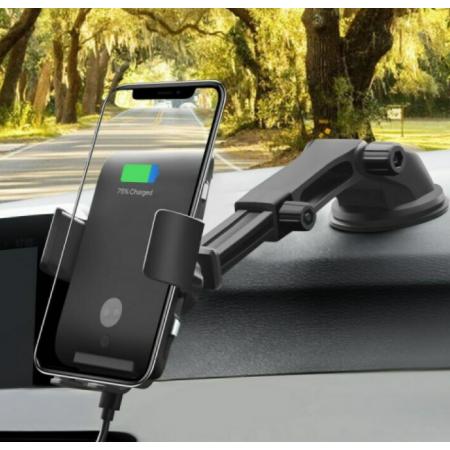 Wirelesses autós tartó, Fekete