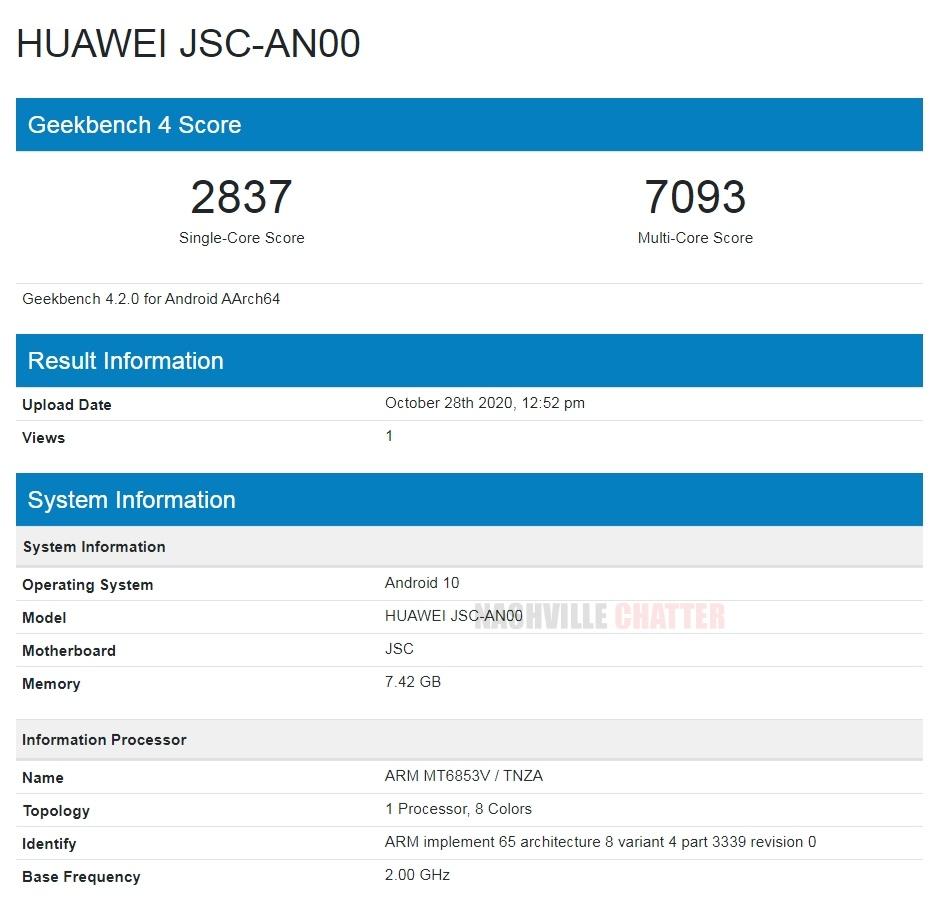 Huawei-JSC-AN00-Geekbench
